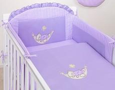 Dětské povlečení fialová houpačka kostička