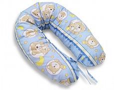 Relaxační polštář modrý medvídek v kolečku