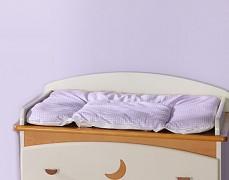 Přebalovací podložka fialová kostička