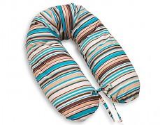Relaxační polštář hnědé proužky