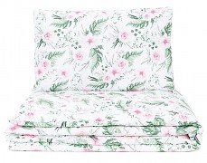 Dětské povlečení růžová zahrada 140x200