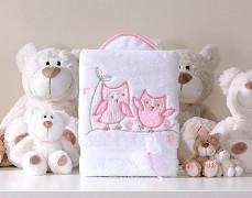 Dečka bílo-růžové sovky POLAR LUX