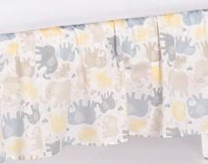 Volánek pod matraci béžová sloníci