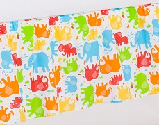 Volánek pod matraci barevní sloníci