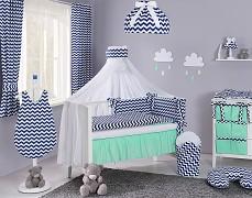Moskytiéra modrý tmavý ZigZag