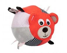 Plyšový senzorický míček červený brumla