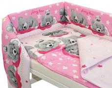 Dětské povlečení růžové Sunny bear