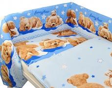 Dětské povlečení modré Sunny bear