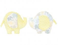 Polštářek béžová sloníci sloník
