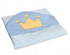 Modrá osuška s kapucí King