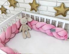 Mantinel růžová copánek velvet
