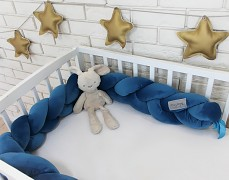 Mantinel modrá copánek velvet