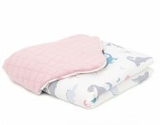 Dětská deka růžová dinos, LETNÍ