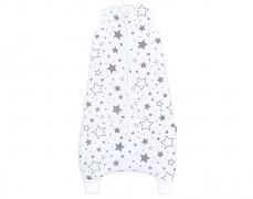 Dětský spací pytel šedobílé hvězdy, mušelín s nohavičkou 80-98