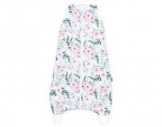Dětský spací pytel růžová zahrada, mušelín s nohavičkou 80-98