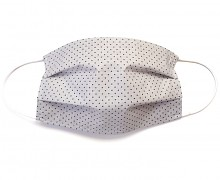 Bavlněná rouška šedá s puntíky