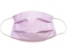 Bavlněná rouška fialový pruh