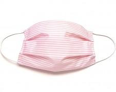 Bavlněná rouška růžový pruh