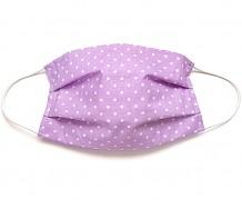 Bavlněná rouška fialový puntík