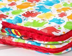 Set barevní sloníci s červenou