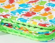 Set barevní sloníci s zelenou