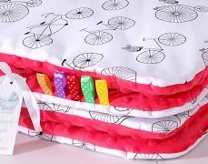 Set červené bicykly