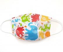 Bavlněná rouška barevní sloníci