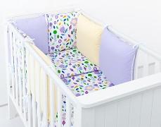 Dětské povlečení fialové květy
