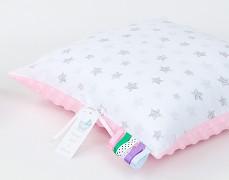 Polštářek bílé hvězdice s růžovou