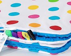 Set barevné puntíky s tyrkysovou