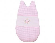 Dětský spací pytel růžová houpačka kostička