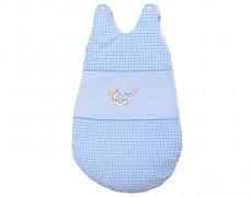Dětský spací pytel modrá houpačka kostička