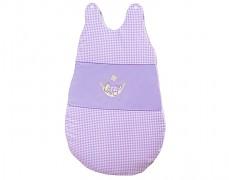 Dětský spací pytel fialová houpačka kostička