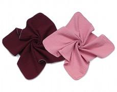 Mušelínové plenky bordo/růžová 2ks