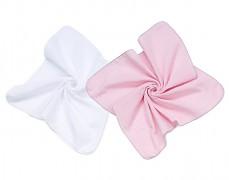 Mušelínové plenky růžová/bílá 2ks