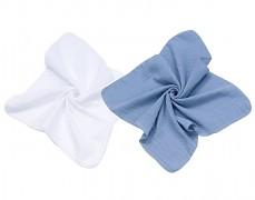 Mušelínové plenky modrá/bílá 2ks