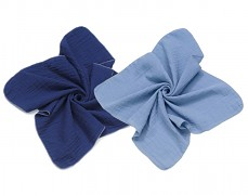 Mušelínové plenky modrá/modrá 2ks