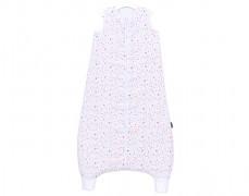 Dětský spací pytel srdíčko růžovo-šedé, mušelín s nohavičkou 80-98