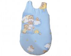 Dětský spací pytel modrý se spícími medvídky