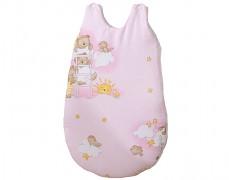 Dětský spací pytel růžový se spícími medvídky