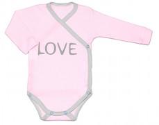 Body růžové LOVE zavinovací