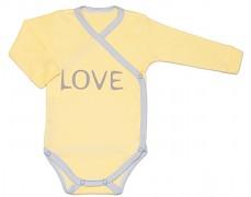 Body žluté LOVE zavinovací
