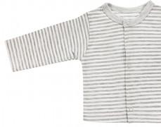 Kojenecká košilka šedý pruh