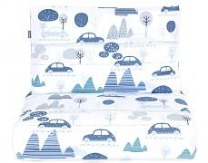 Dětské povlečení modré automobily 120x90