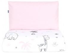 Dětské povlečení růžové safari 120x90