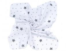 Mušelínové utěrky 35x35 hvězdičky, 3ks