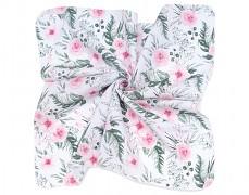 Mušelínové utěrky 35x35 růžová zahrada, 3ks