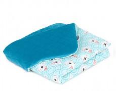 Dětská deka tyrkysová koala velvet, LETNÍ 75x100
