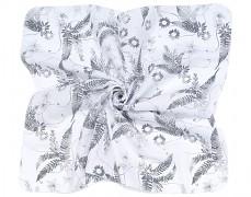 Zavinovací mušelínová plena kapradí 120x120