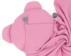 Set růžový mušelínový se střapci